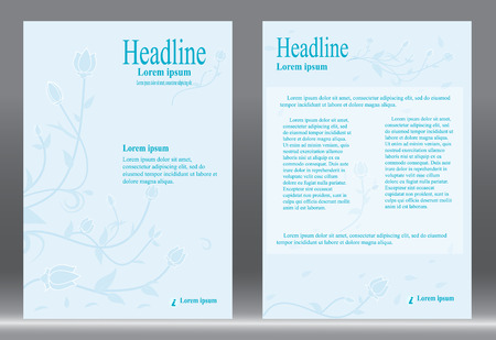 design, Brochure template abstract  blue background. Illustration