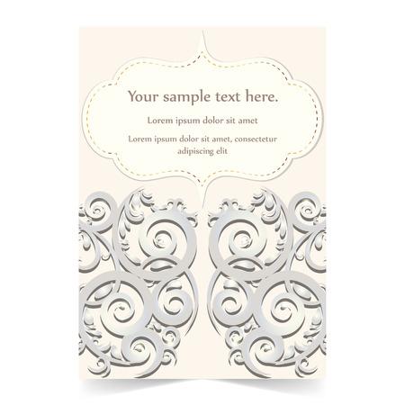 greeting card background: Invitation card, greeting card, wedding card with ornamental background Illustration