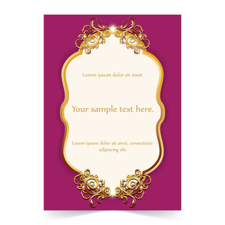 greeting card background: Invitation card, greeting card, wedding card with gold ornamental background