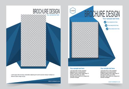 navy blue: Brochure template, design navy blue color template