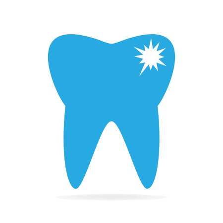 decay: Tooth caries, tooth decay icon Illustration