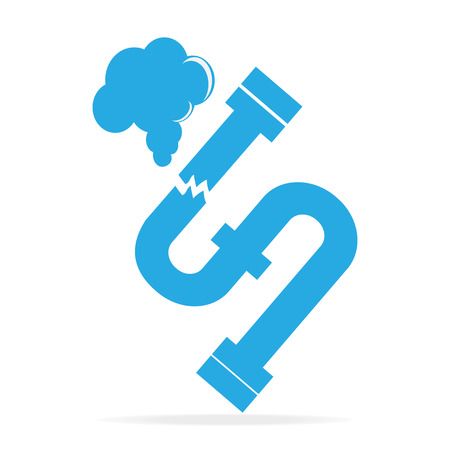Gas leak pipe icon. Pollution Gas Pipe icon sign vector illustration 일러스트