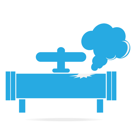 Gaslek pijp icoon. Vervuiling Gas Pipe pictogram teken vector illustratie