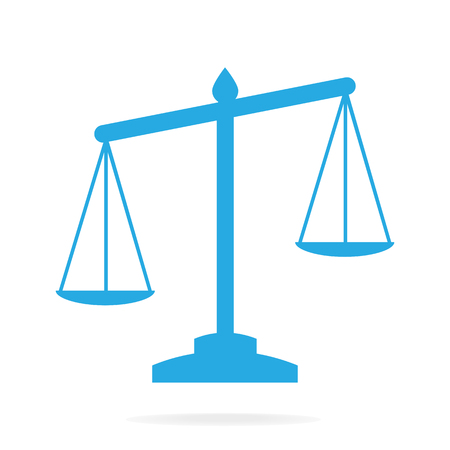 Justice scale icon, symbol vector illustration