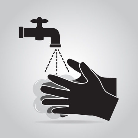 Washing hand with soap icon, cleaning icon