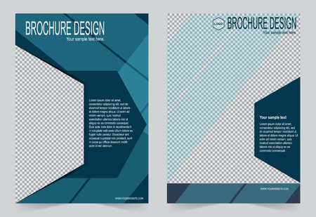 magazine template: Template flyer design, abstract template for annual report, magazine, poster