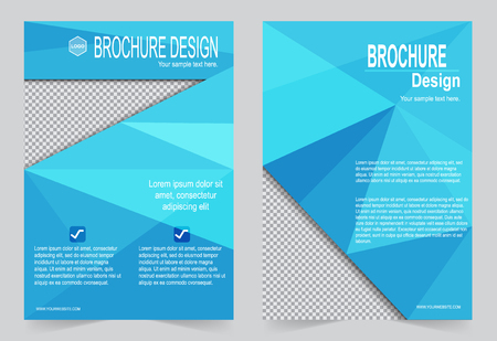 magazine template: Abstract template for annual report, magazine, poster