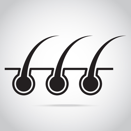 hair root and skin icon vector illustration