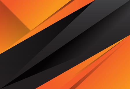 Black and orange abstract layer geometric background Stock Illustratie