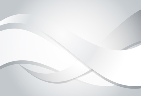 metalic: Silver gradient abstract line and wavy background. Illustration