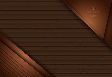Bruin abstract laag geometrisch materiaalontwerp voor achtergrond, kaart, jaarlijks bedrijfsrapport, brochure, affichemalplaatje Stock Illustratie