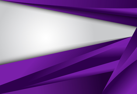 Purple gradient geometric on white background material design overlap layer  illustration Illustration