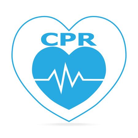 CPR, Cardiopulmonary resuscitation blue icon. Medical sign icon