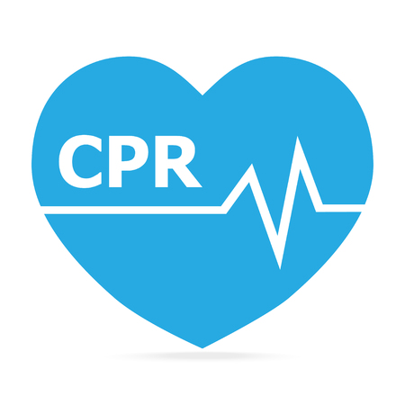CPR, Cardiopulmonary resuscitation blue icon. Medical sign icon