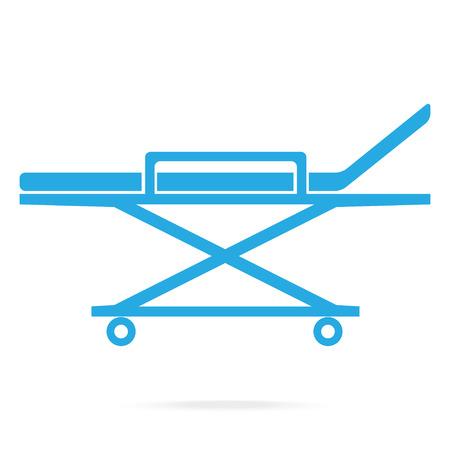 Stretcher medical blue icon, medical concept Illustration