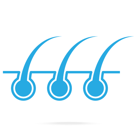 Hair root and skin blue icon vector illustration Ilustracja