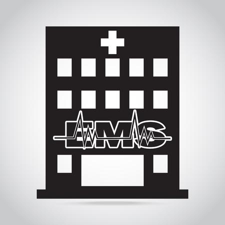 medical doctors: Hospital and EMS sign icon, medical sign concept Illustration