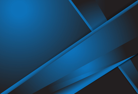 Blue gradient geometric background material design overlap layer  illustration Illustration