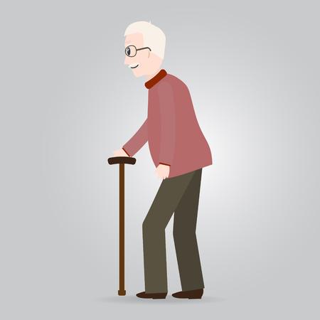 Elderly man, old people icon vector illustration.