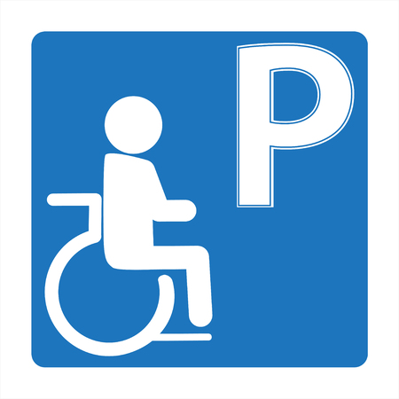Handicapped parking sign icon