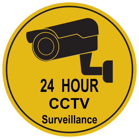 Security CCTV camera watch icon Vector illustration.