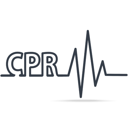 CPR, Cardiopulmonary resuscitation, simple line icon. Medical sign icon Illustration