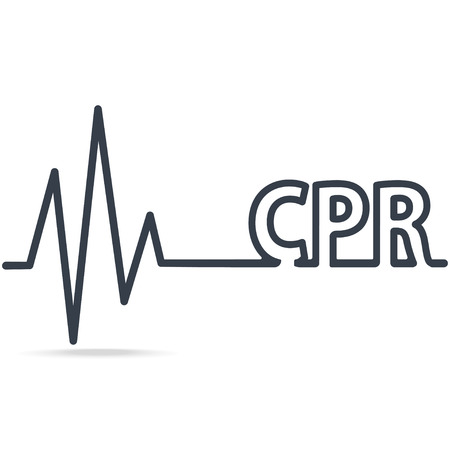 CPR, Cardiopulmonary resuscitation, simple line icon. Medical sign icon Иллюстрация
