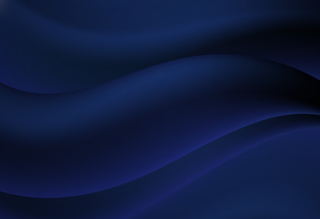 Navy Blue abstract curve and wavy vector background Illustration