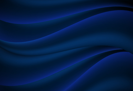Navy Blue abstract curve and wavy vector background Ilustrace