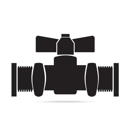 Valve pipeline icon sign vector illustration