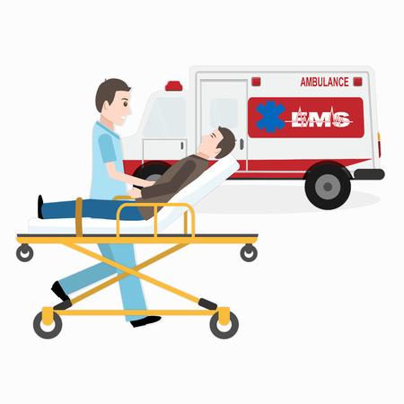 Servicios médicos de emergencia o ilustración médica de rescate.