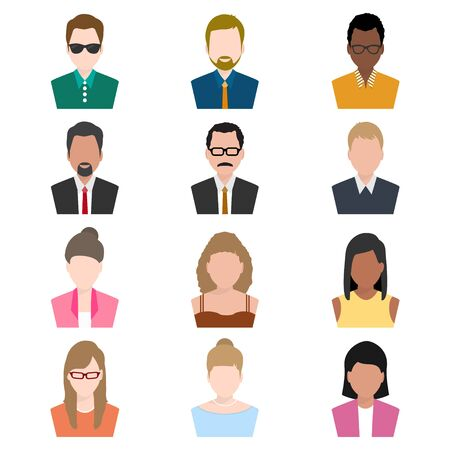 set of people icon, Man and woman icon illustration