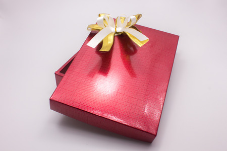 red gift box: gift, box, red