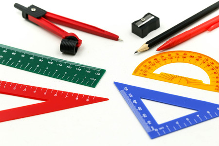 Group of stationery tools Educational tools supplies,back to school concept.