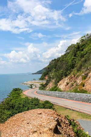 High sea view point Nern Nang Phaya in Thailand ,View point of the Hill from the Queen in Chanthaburi province of Thailand 写真素材