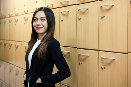 Portrait of Beautiful Young businesswoman asian smiling  happy for working. Archivio Fotografico - 133956094