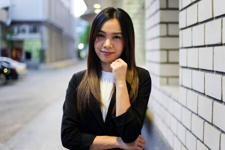 Portrait of Beautiful Young businesswoman asian smiling  happy for working. Archivio Fotografico - 133956098
