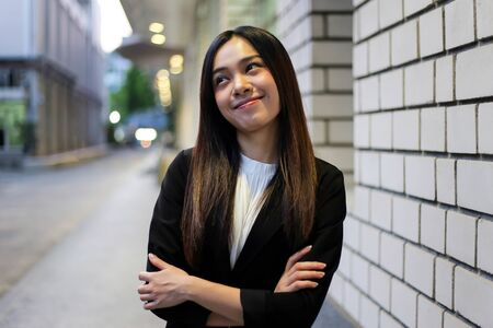 Portrait of Beautiful Young businesswoman asian smiling  happy for working. Archivio Fotografico - 133956099