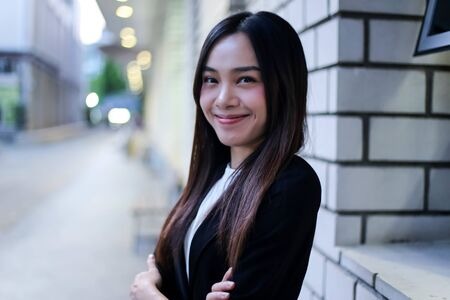 Portrait of Beautiful Young businesswoman asian smiling  happy for working. Archivio Fotografico - 133956096