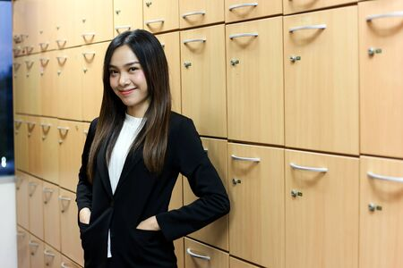 Portrait of Beautiful Young businesswoman asian smiling  happy for working. Archivio Fotografico - 133956108