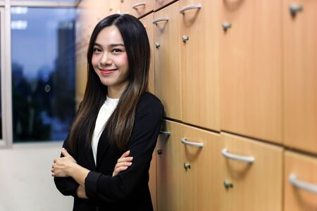 Portrait of Beautiful Young businesswoman asian smiling  happy for working. Archivio Fotografico - 133956106