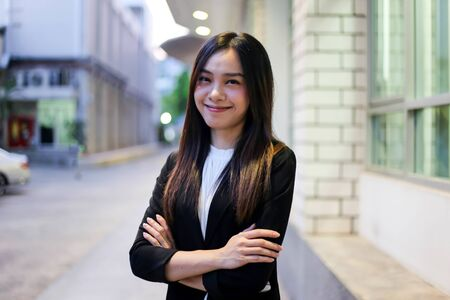 Portrait of Beautiful Young businesswoman asian smiling  happy for working. Archivio Fotografico - 133956109