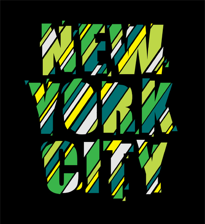New York text was sliced into pieces.