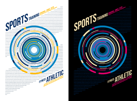 t-shirt design sports athletic training wear on black and white background