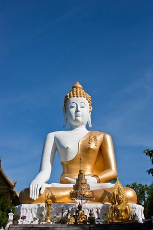 Big White Buddha Statue photo