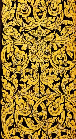 Thai golden painting art photo