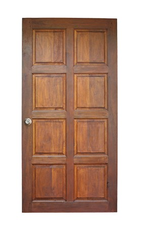 Wood door isolated on white Stock Photo - 7486983