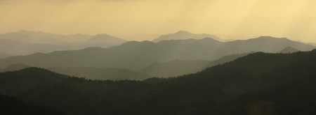 Mountains silhouette Imagens