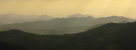 Mountains silhouette Stock Photo