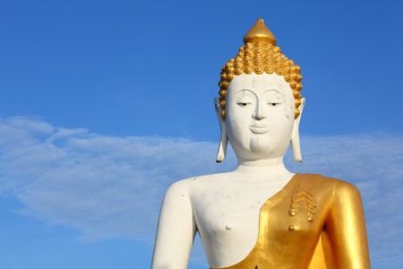 Big White Buddha Over Nice Blue Sky photo